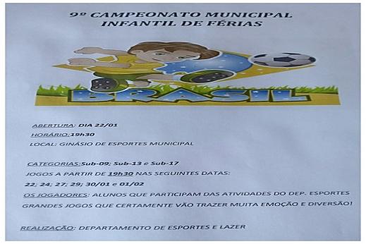 9º CAMPEONATO MUNICIPAL INFANTIL