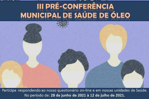 3º PRÉ- CONFERÊNCIA MUNICPAL DE SAUDE DE ÓLEO